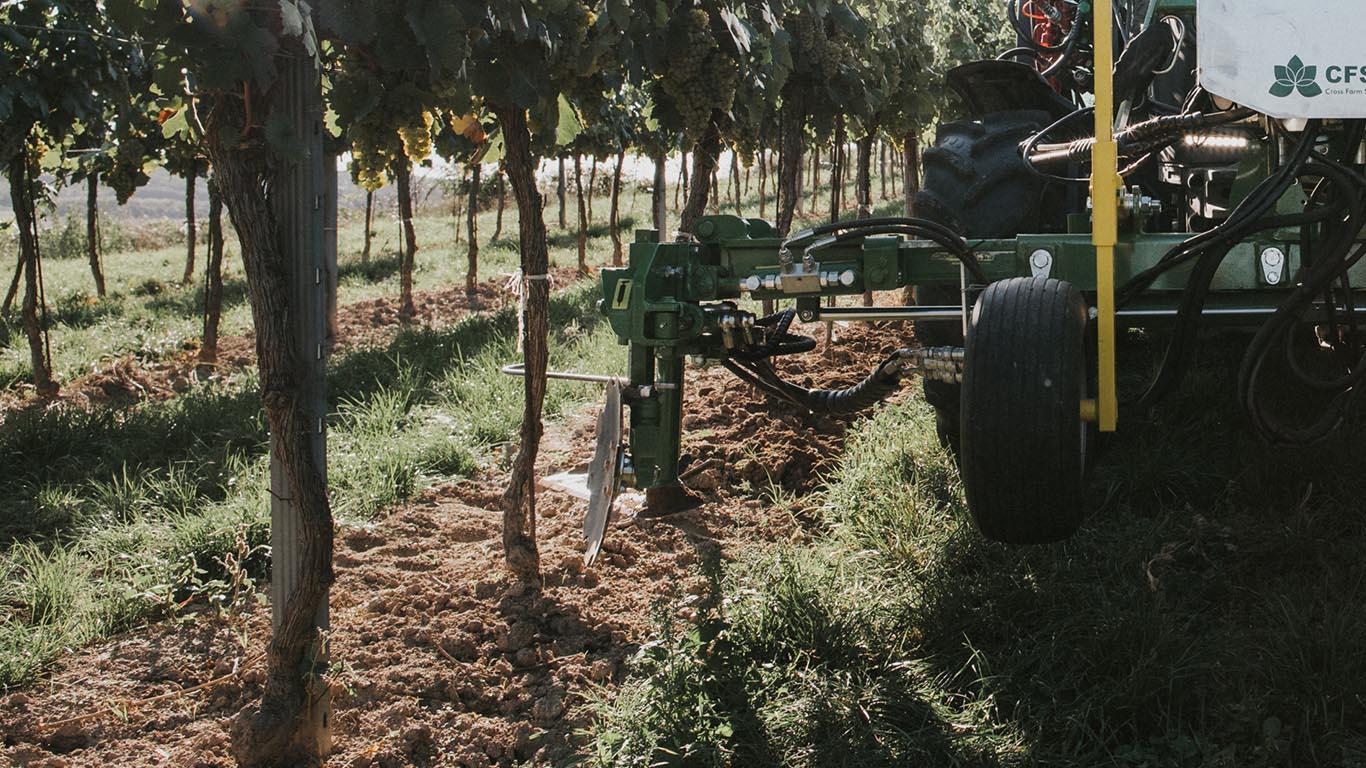 Unterstockpflege_Vinox Tasterkopf Weinbau_CFS Cross Farm Solution Weinbrebe